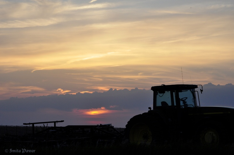 End of a Farmer's Day