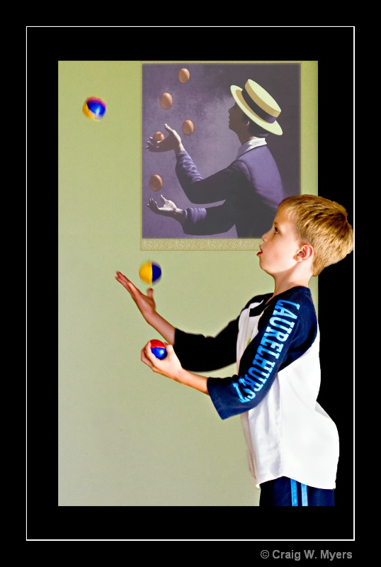 Juggling Lesson - ID: 8855427 © Craig W. Myers