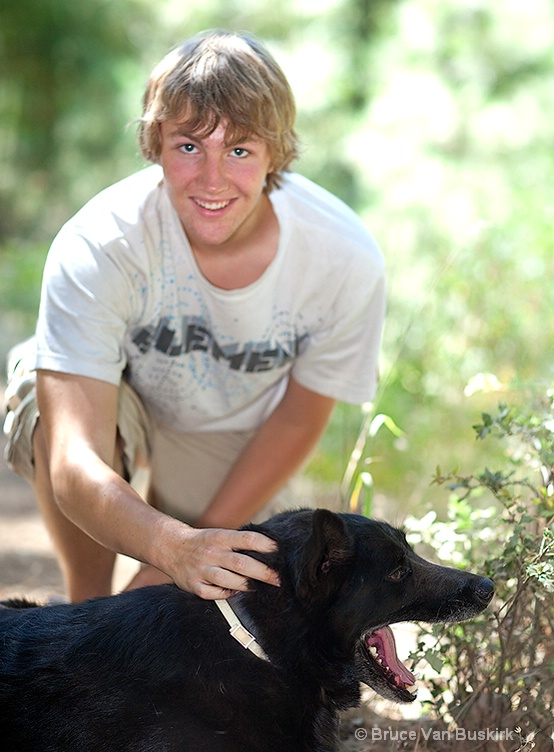 My son David and his Dog Cooper - ID: 8872205 © Bruce E. Van-Buskirk