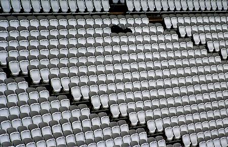 Vacant seats.