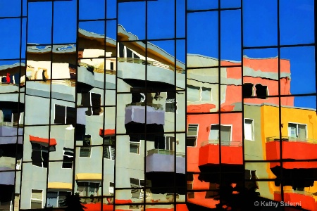 Little Italy Reflection