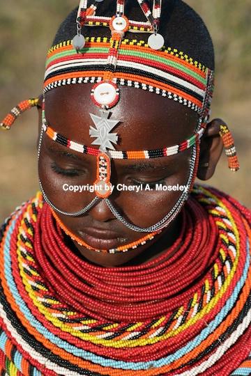 Africa Kenyan Samburu shyness of teenage girl 7629 - ID: 9183895 © Cheryl  A. Moseley