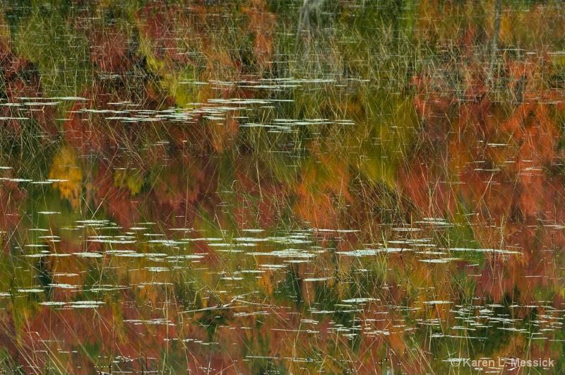 Fall Pond Reflection - ID: 9200790 © Karen L. Messick