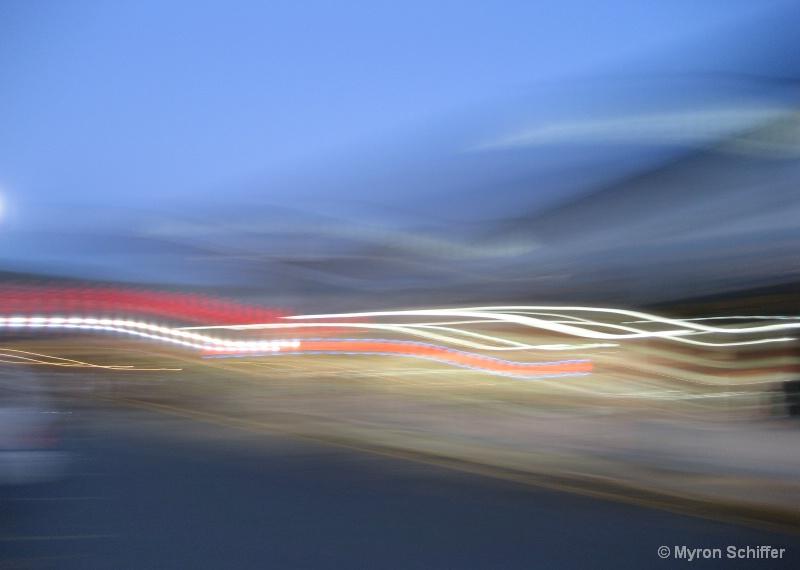 Trucker's Dawn - ID: 9202031 © Myron Schiffer