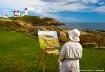 Painter at Nubble...
