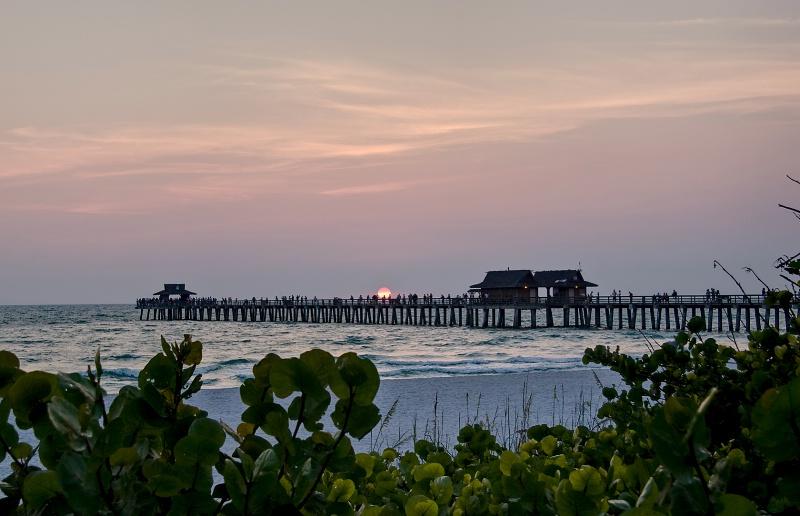 Sunset at the Naples Pier - ID: 9261570 © Steve Abbett