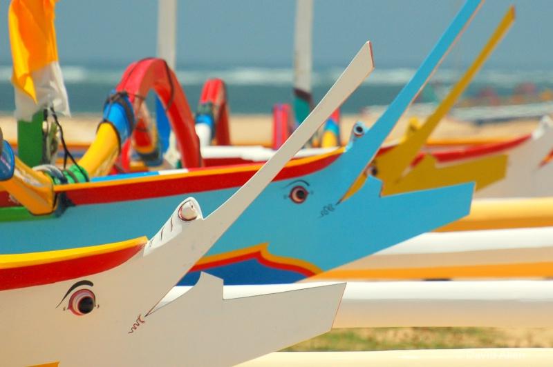 Bali boats at rest