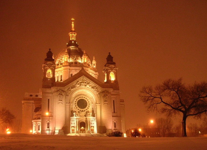 St. Paul Cathedral in Snowstorm