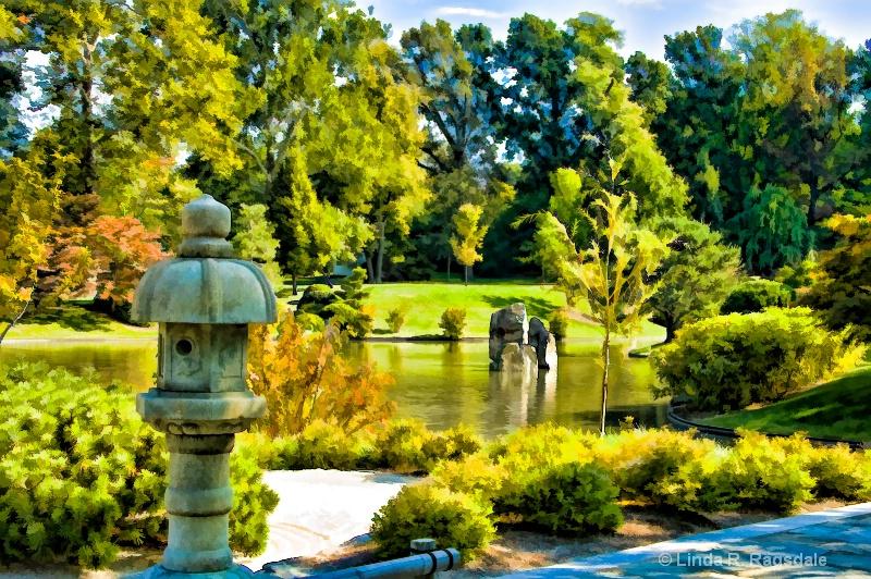 Japanese gardens spicify and simplify Topaz filter - ID: 9382913 © Linda R. Ragsdale