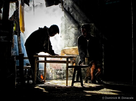 WORKERS IN THE EARLY MORNING LIGHT II
