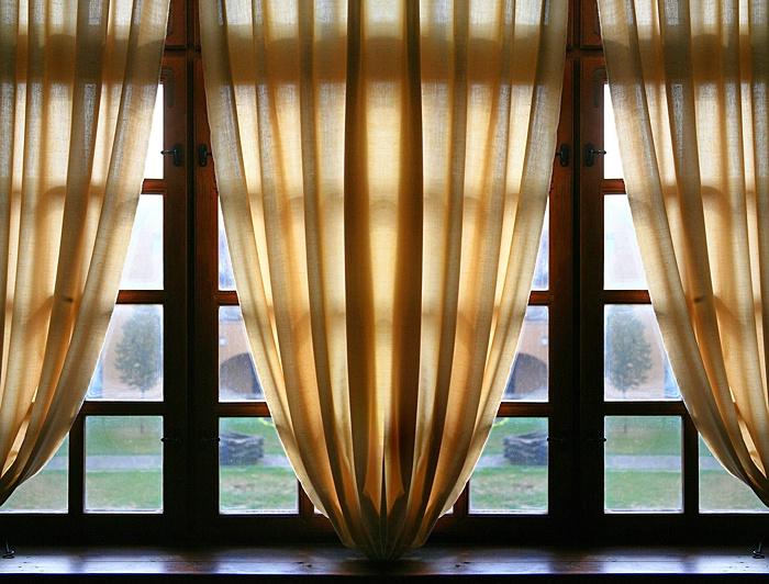Window with Curtains, Hungary - ID: 9608605 © STEVEN B. GRUEBER