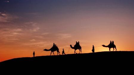 Twilight at Thar Desert