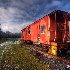 © Robert A. Burns PhotoID# 9618296: Caboose in Morning Light