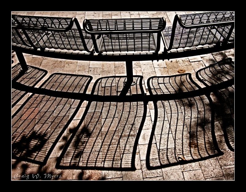 Courtyard Shadows - ID: 9716171 © Craig W. Myers