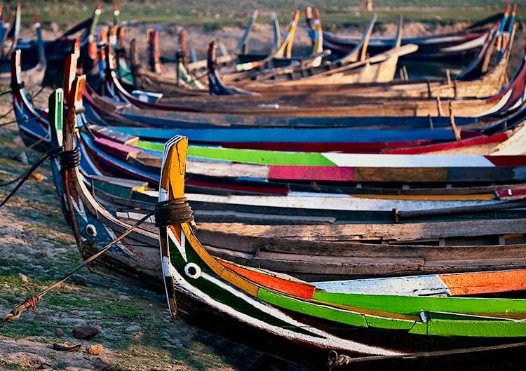 Boats at shore, Myanmar (Burma) - ID: 9749461 © Jeff Lovinger