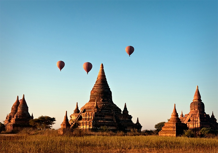 Balloons over Bagan, , Myanmar (Burma) - ID: 9761404 © Jeff Lovinger