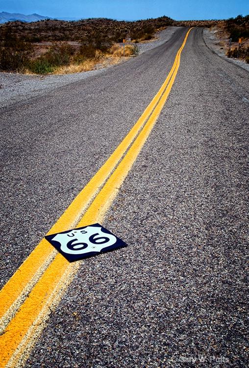 Route 66 To Oatman - ID: 9910367 © Gary W. Potts