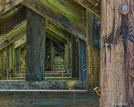 Under The Wooden Train Trestle