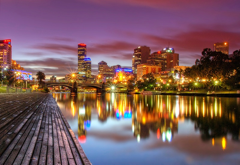 Photography Contest Grand Prize Winner - Melbourne Lights on the Yarra River