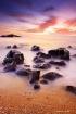 Sunset beach rock...