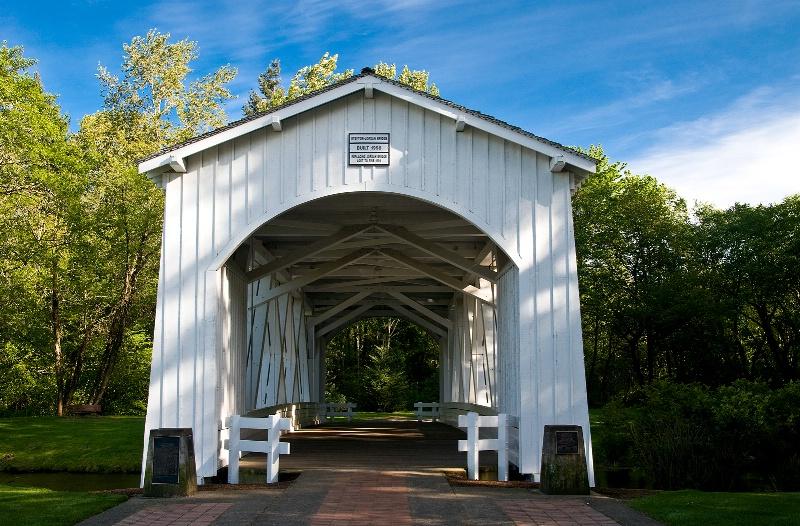 Stayton-Jordan Bridge, OR - ID: 10143373 © Denny E. Barnes