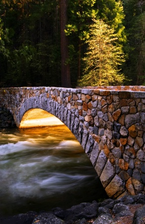 Crossing the Merced (Yosemite Valley)