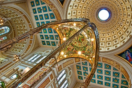 Franciscan Monastery Ceiling Abstract