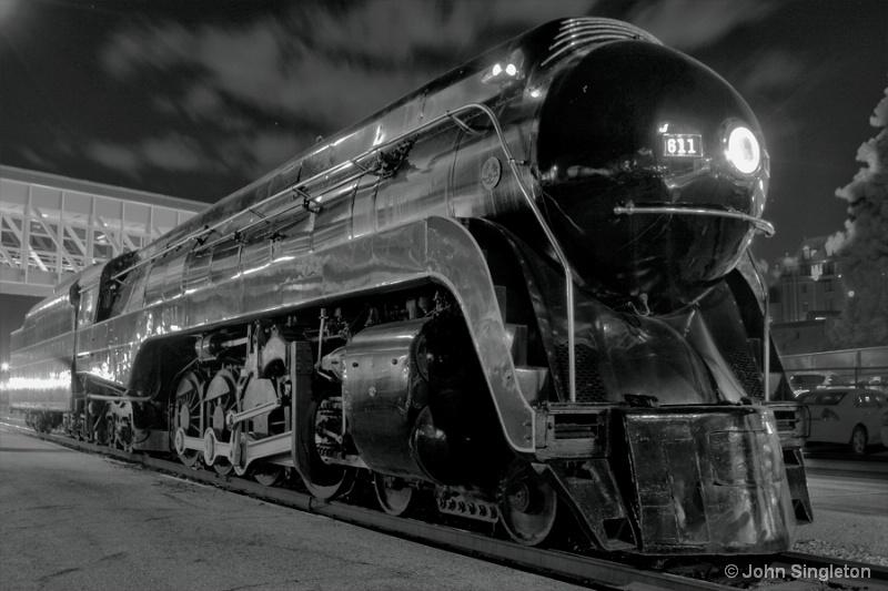 MT 05/10 - A -   N & W 611  B & W Night - ID: 10209841 © John Singleton