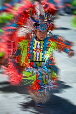 Young PowWow Dancer