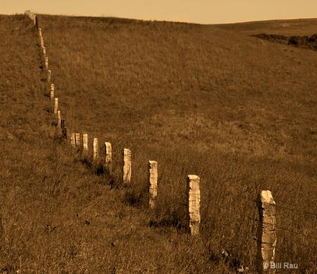 Post-rock fence, Smoky Hill region, Kansas