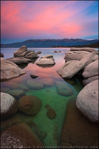 Emerald Water Molten Sky
