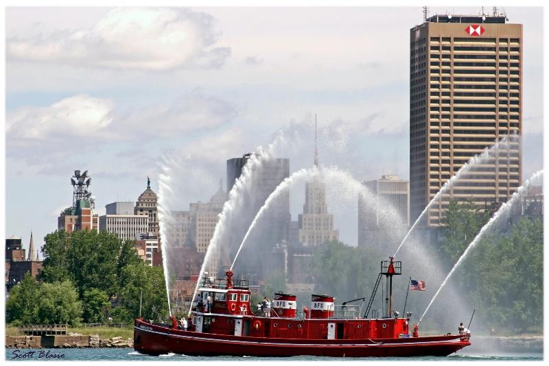 Buffalo, NY Fireboat , The Edward M. Cotter.