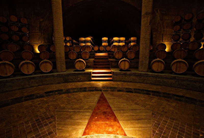 Temple-like wine cave