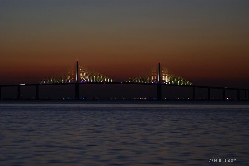 Dawn of a Sunrise At the Skyway Bridge - ID: 10550236 © William E. Dixon
