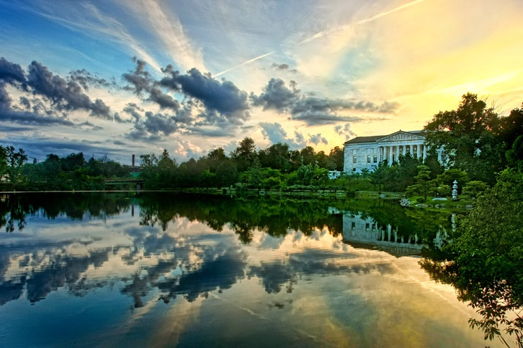 Museum, Sky and Lake