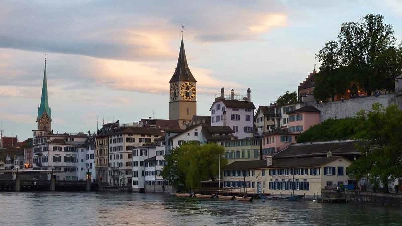 Zurich across the Limmat River - ID: 10683126 © STEVEN B. GRUEBER