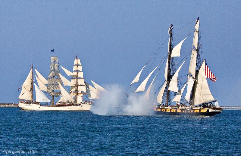 A Tallship Salute - ID: 10710307 © Jacqueline A. Tilles