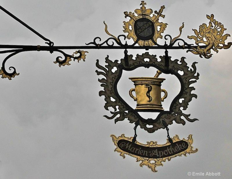 Medieval Rothenburg Apotheke - ID: 10772895 © Emile Abbott