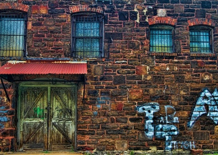 Abandoned Old Building with Graffiti