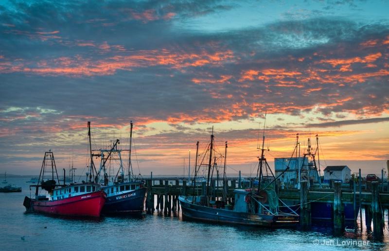 Provincetown Harbor Sunrise - ID: 10889250 © Jeff Lovinger