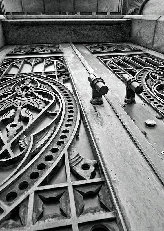 Mausleum door perspective