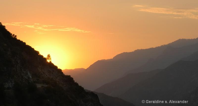 King's Canyon Sunset