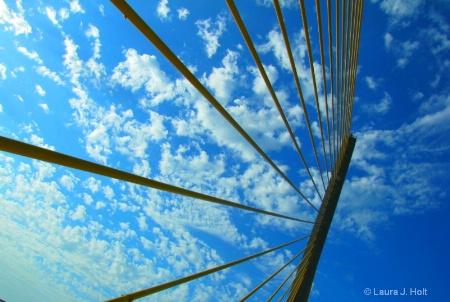 Sunshine Skyway Bridge, looking up