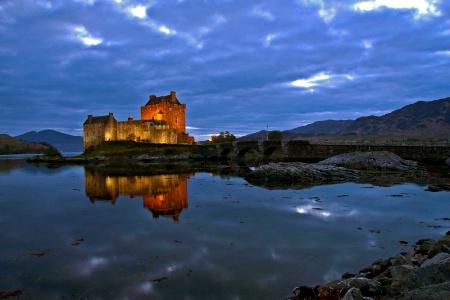Eilean Donan Castle (at night) - Scotland
