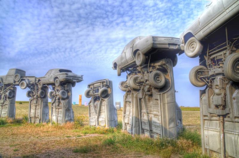 Carhenge in Western Nebraka, USA
