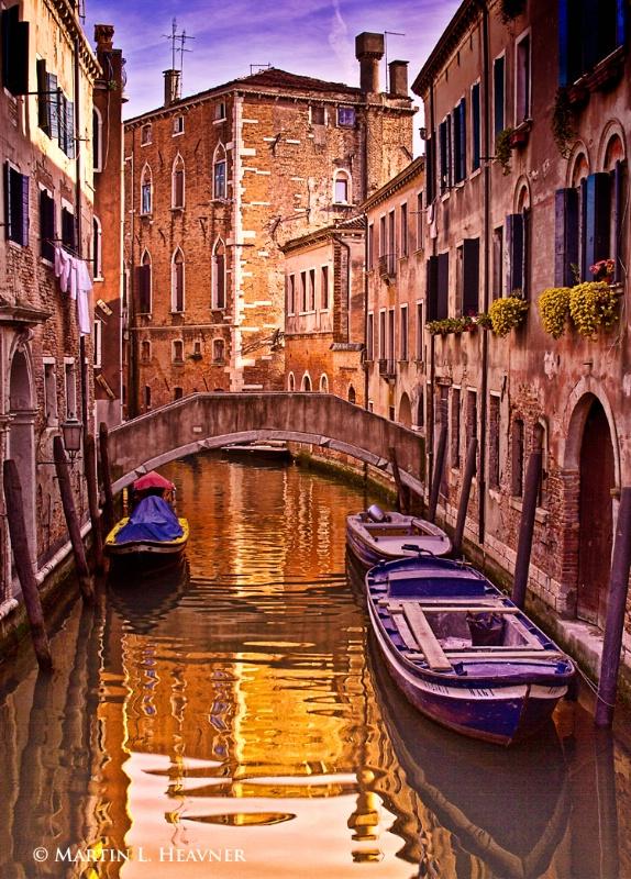 Quiet Canal at Dusk, Venice - ID: 11797272 © Martin L. Heavner