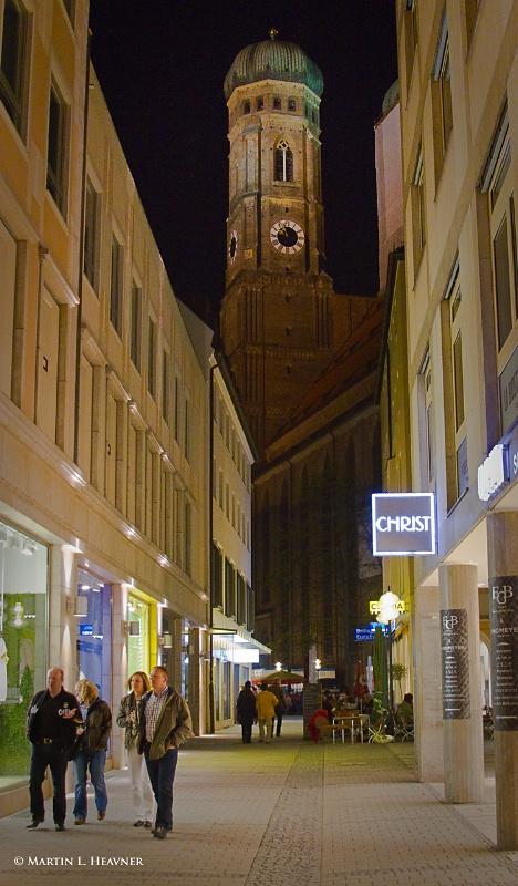 Frauenkirche at Night, Munich - ID: 11797998 © Martin L. Heavner