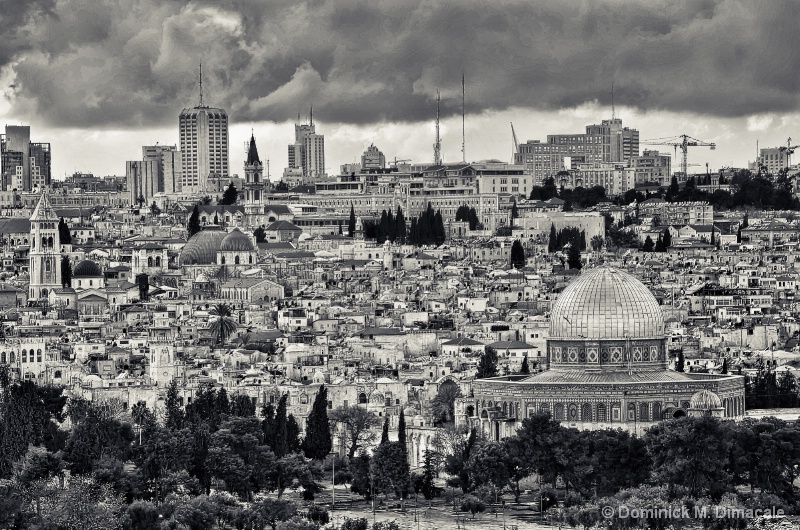 ~ ~ DOME OF THE ROCK FROM MOUNT OF OLIVES ~ ~  - ID: 11835968 © Dominick M. Dimacale
