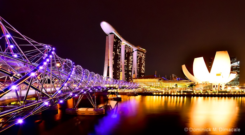 ~ SINGAPORE AT NIGHT ~ - ID: 11866831 © Dominick M. Dimacale