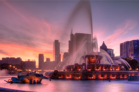 Photography Contest Grand Prize Winner - September 2011: Sunset Fountain